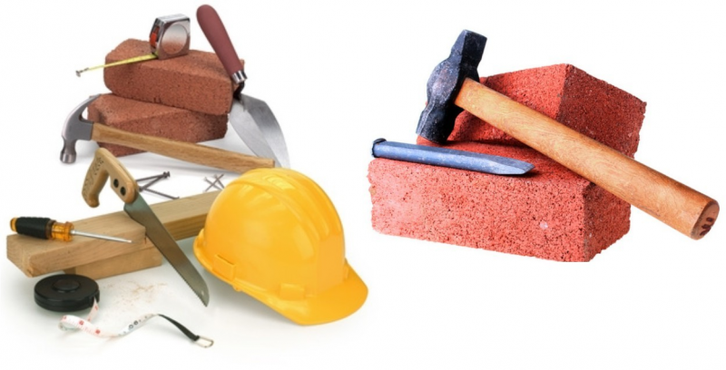 Various types of building materials